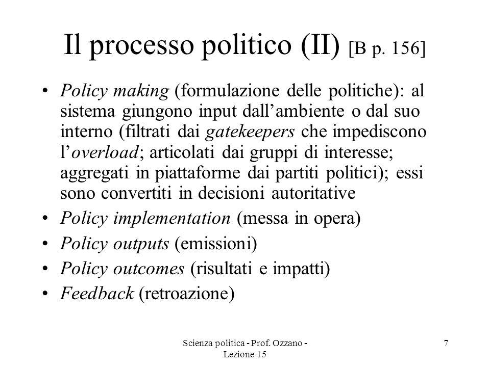 Il processo politico (II) [B p. 156]
